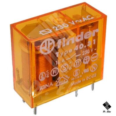 رله 220 ولت AC تک کنتاکت 10 آمپر فیندر (Finder)
